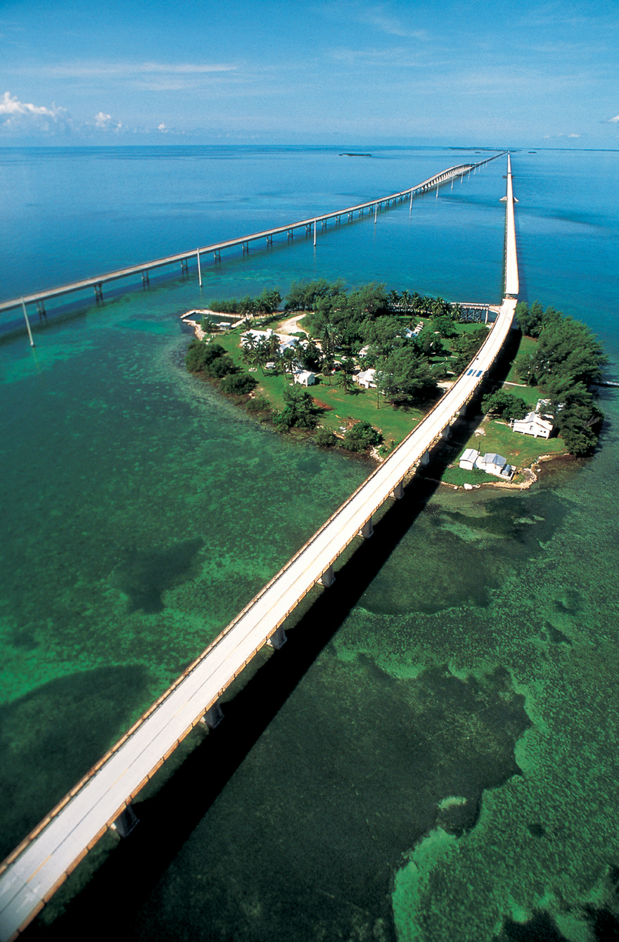 Seven Mile  Bridge, Keys en Floride
