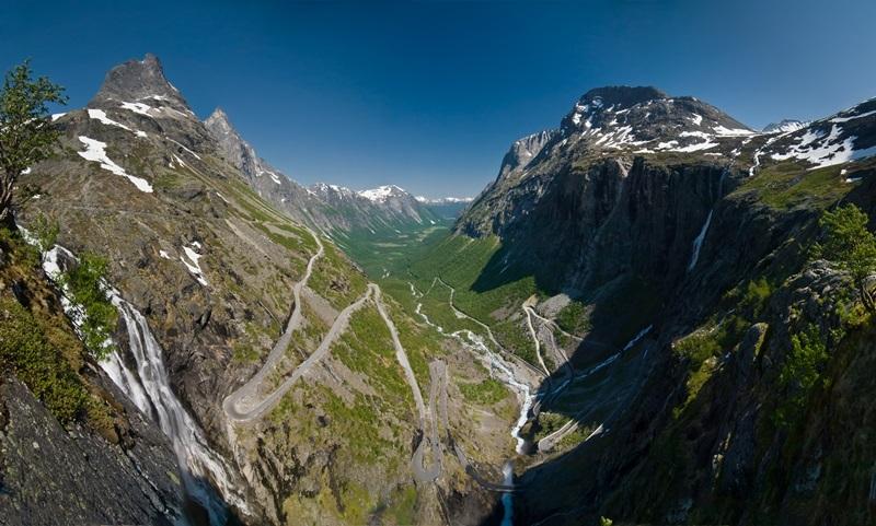 Trollstigen (La route Trolls) en Norvège