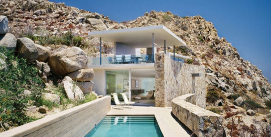 Villa en pierre sur la côte mexicaine