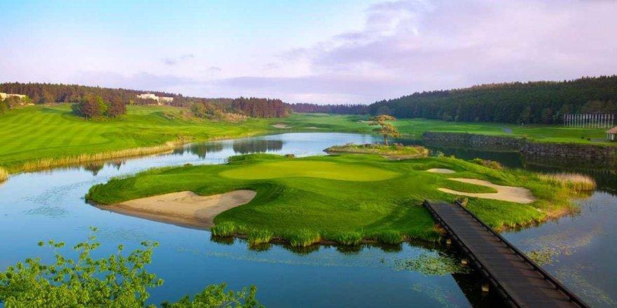 Golf Nine Bridges sur l'ile volcanique de Jeju en Corée du Sud
