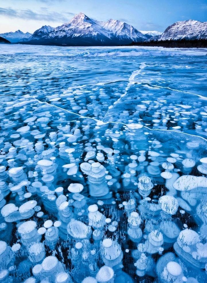 Lac Abraham à Alberta, Canada