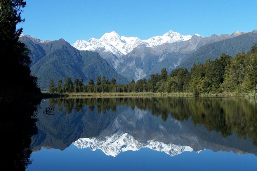Le lac Matheson en Nouvelle-Zélande