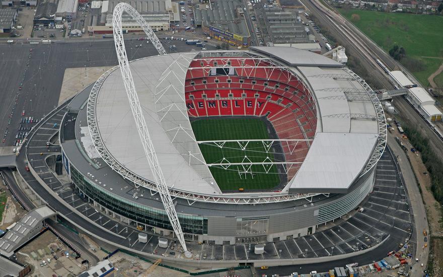 Le stade de Wembley à Londres