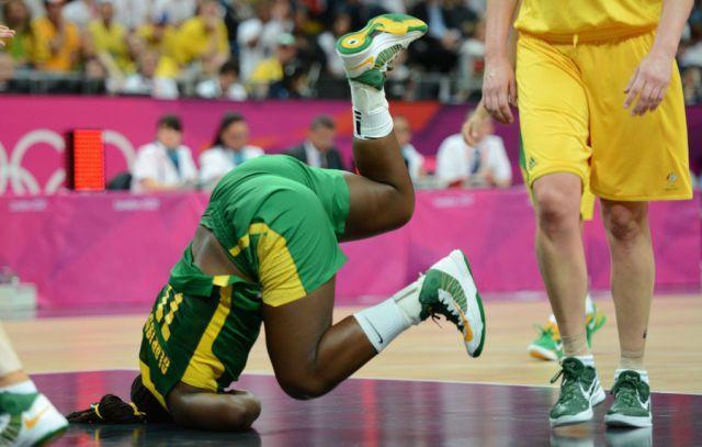 Chute lors d'un match de basket
