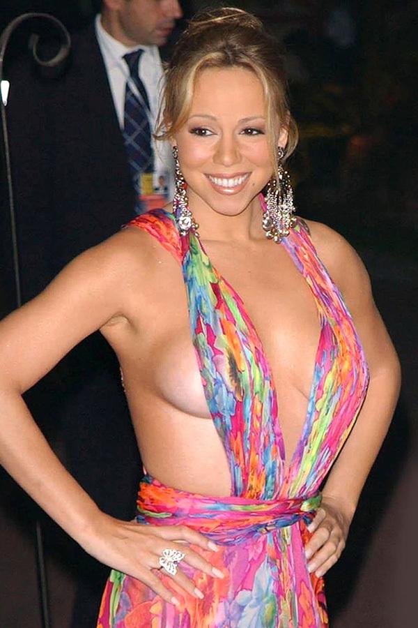 Le décolleté de Mariah Carey
