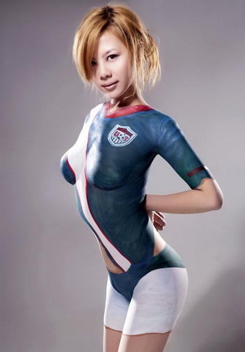 Les plus belles filles en body painting FIFA Football