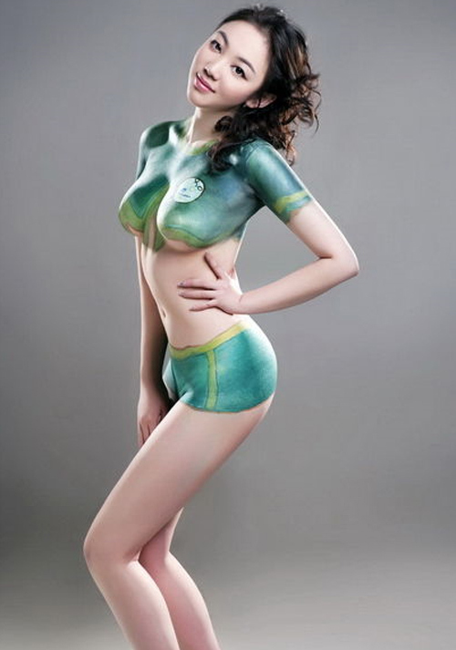 Les plus belles filles en body painting FIFA Football