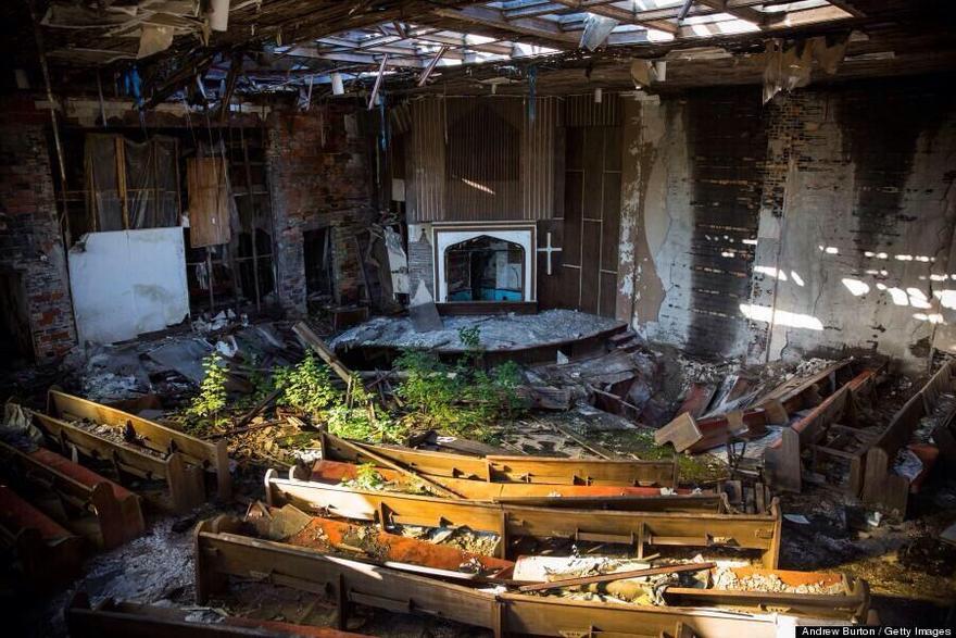Église abandonnée dans l'Indiana aux États Unis