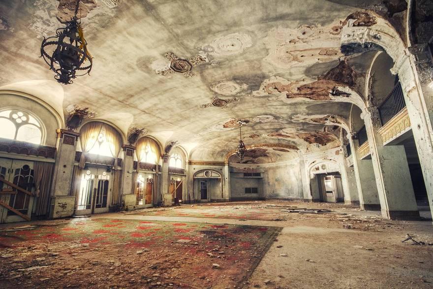 Un palace abandonné au Texas aux États Unis