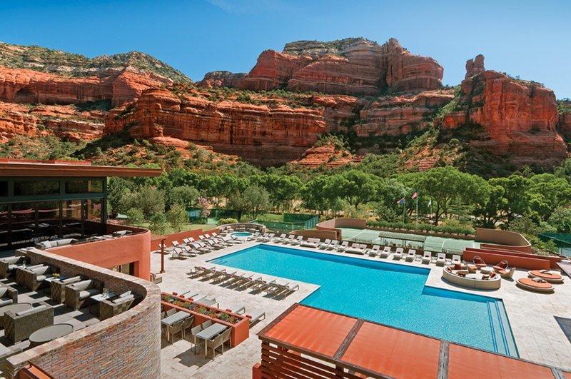 La piscine de l'hotel Enchantment Resort en Arizona