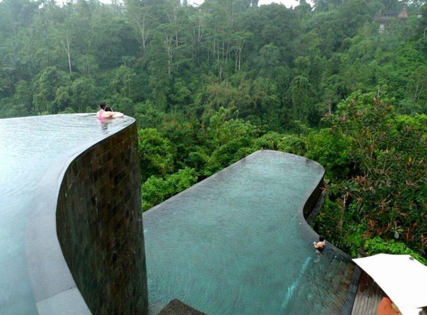 La piscine de l'hotel Ubud Hanging Gardens à Bali