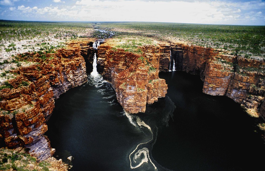 Les cascades King George en Australie
