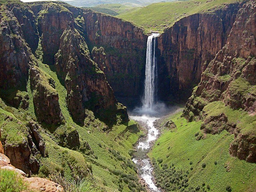 Les chutes de Maletsunyane en Afrique du Sud