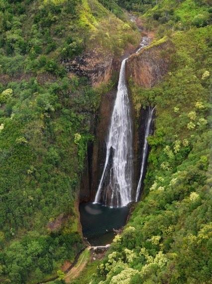 Les chutes Manawaiopuna Falls à Hawaii