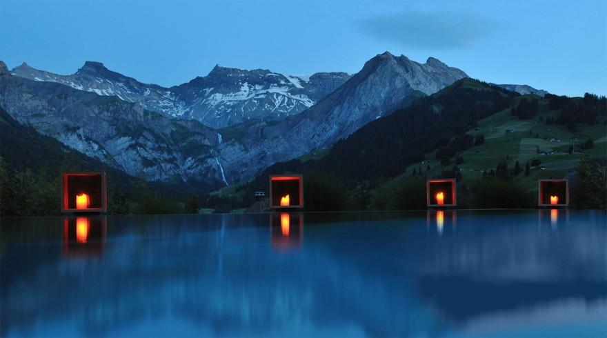 Piscine du Cambrian Hotel en Suisse