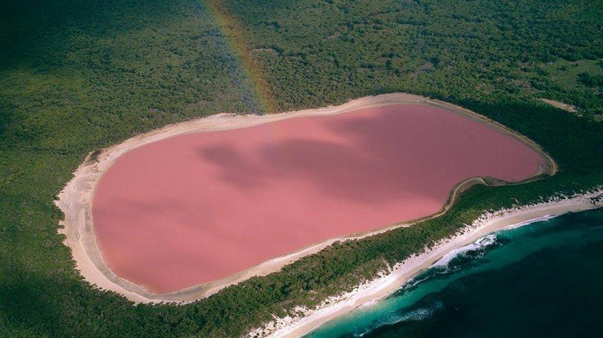 L'incroyable lac Hillier en Australie