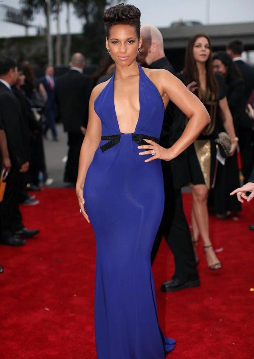 Le décolleté d'Alicia Keys au Grammy Awards 2014