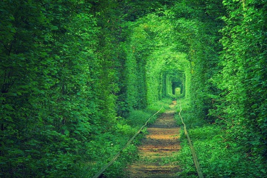 Le tunnel de l'amour en Ukraine