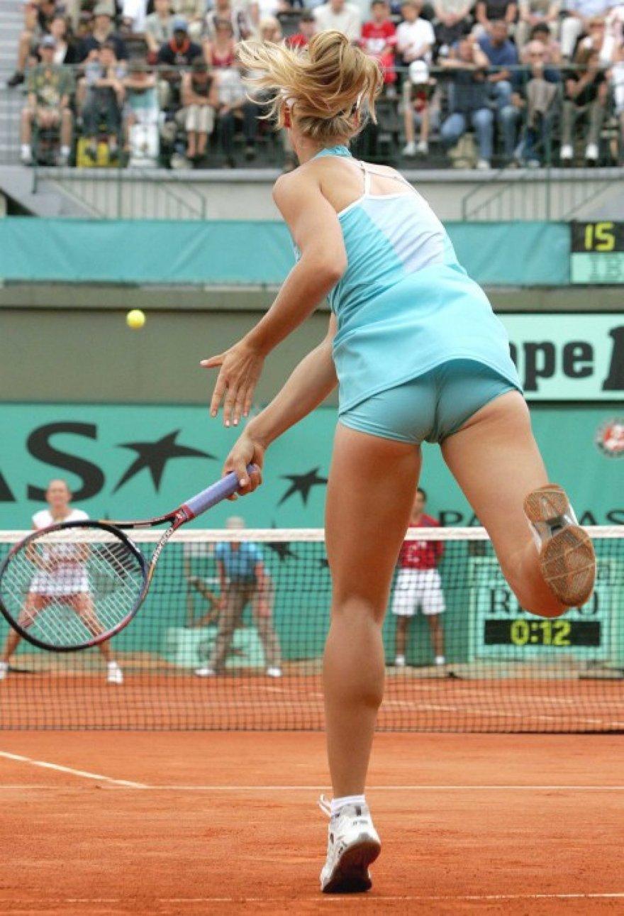 Les fesses d'Elena Dementieva au tennis
