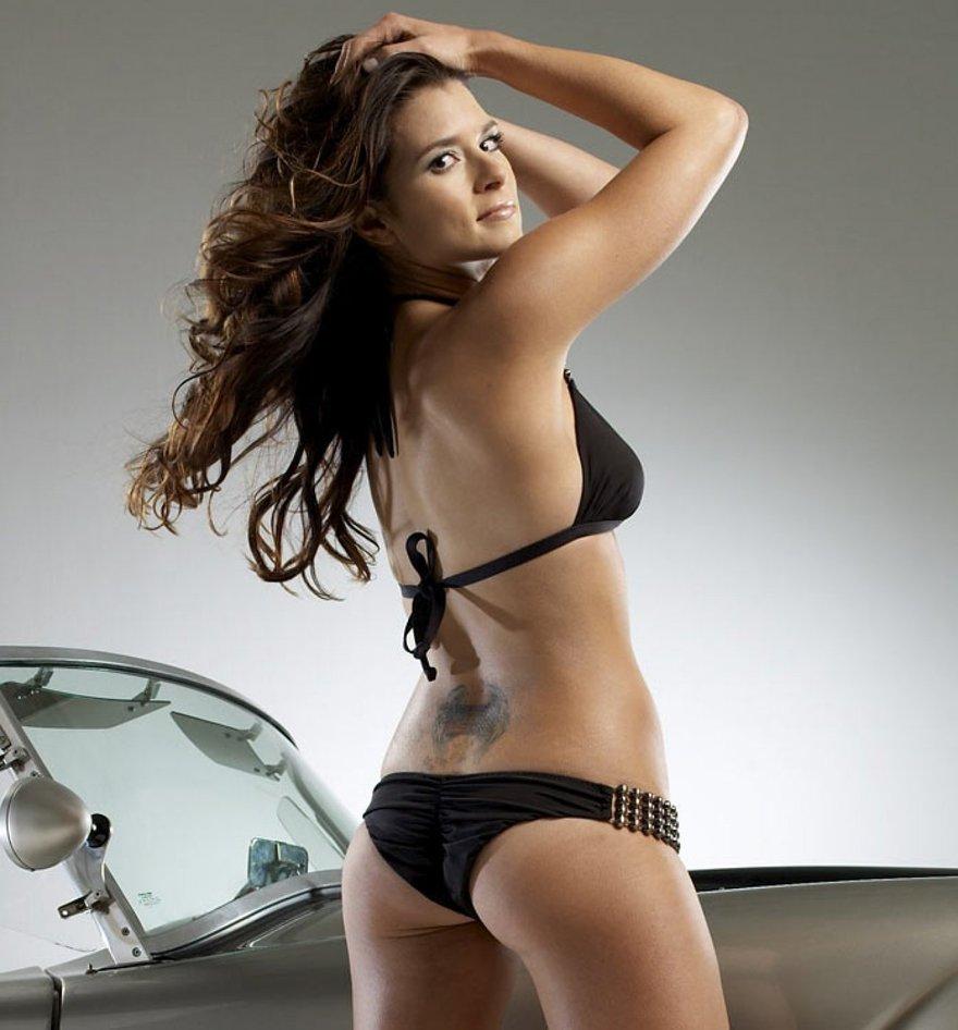 Les fesses de Danica Patrick, pilote auto