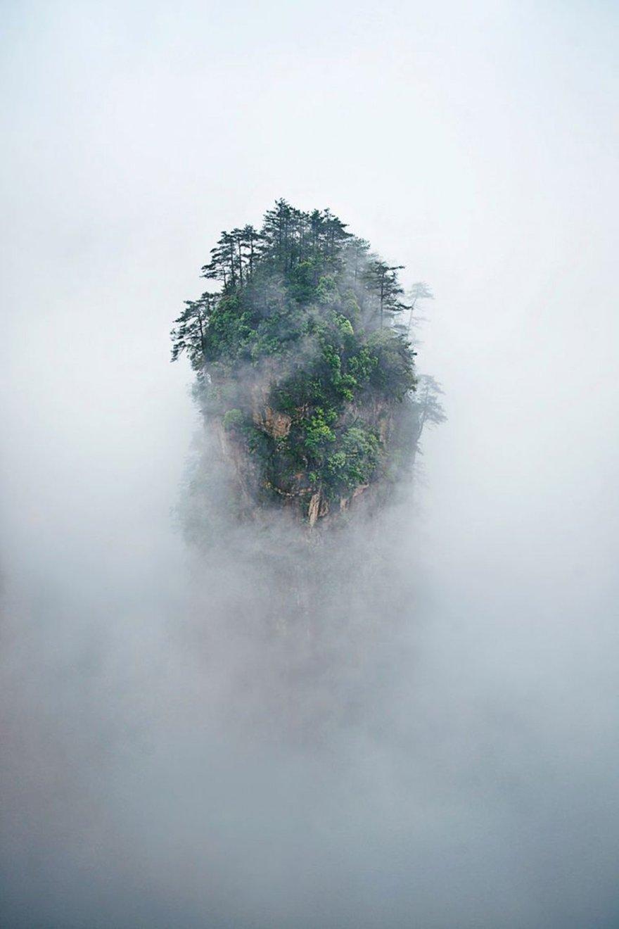 Les montagnes Tianzi en Chine