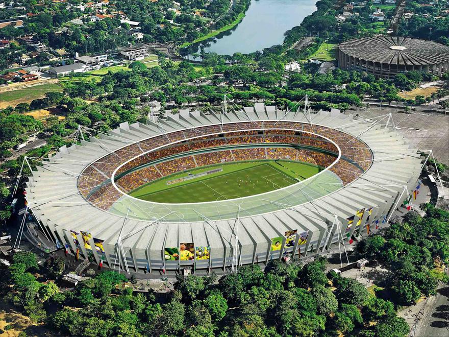 Stade Mineirão au Brésil